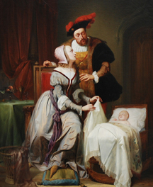 Keizer Karel with his mistress Johanna van der Gheynst at the birth of their daughter, Margaretha van Parma © Paleis voor Schone Kunsten Gent)